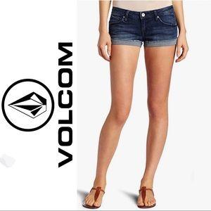 Volcom Sound Check Short Shorts Denim Cut-Off's